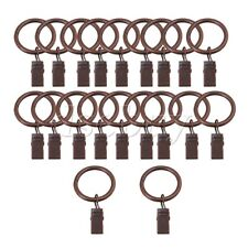 20PCS 25mm ID Red Bronze Curtain Rod Clips Rings Drapery Hook with Clip