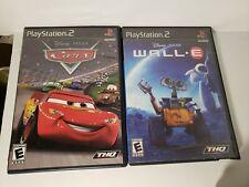 Playstation 2 disney games lot: cars and wall e
