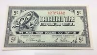 1962 Canadian Tire Five 5 Cents CTC-7-A Money Bonus Banknote D010