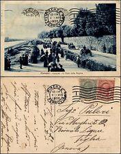 Firenze, cascine, viale della Regina, animata, viaggiata 1920