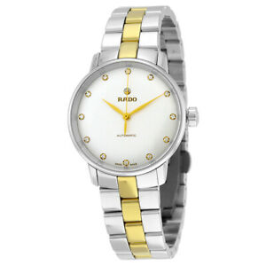 Rado Coupole Classic Automatic White Dial Women's Two Tone Watch R22862732