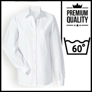 PLUS SIZES Ladies Long Sleeve Formal Oxford Shirt BUSINESS OFFICE WORK & CASUAL