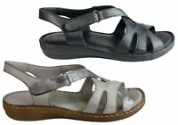 NEW ORIZONTE DIXIE WOMENS EUROPEAN LEATHER COMFORTABLE CUSHIONED SANDALS