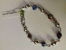 Murano Glass & Sterling beaded Bracelet