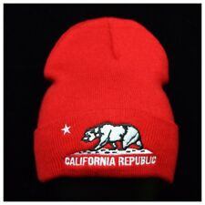 Plain Beanie Cap Hecho En Mexico CALI Bear Baggy Casual Fashion Slouch Hat Knit