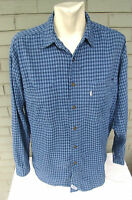Levi's Levi Strauss Plaid Blue Mens Button Down Shirt Size Medium Vintage