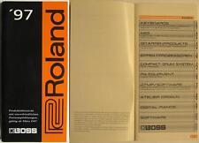 ROLAND BOSS KATALOG VON 1997 - PRODUKTÜBERSICHT MIT PREISEN