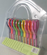Pack of 10 SCISSORS Paper Craft Pattern Cutters Decorative Border Edge BNWT