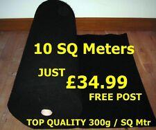 10 SQ METER OF ACOUSTIC BLACK CARPET CLOTH BASS BOX SHELF CAR VAN TRIM