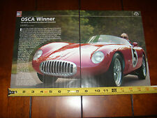1956 OSCA SPORTS CAR   - ORIGINAL 2005 ARTICLE
