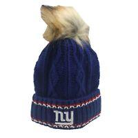 New York Giants NFL Youth Girls (7-16) OSFM Winter Knit Beanie Hat Cap New Tag