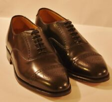 Grenson Black Leather Brogue Captoe Men's Goodyear Welted Oxfords UK 8 EU 42