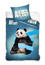 Panda Animal Planet Set Lenzuola Letto Singolo,COPRIPIUMINO 160x200 Cotone