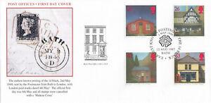 (84776) GB Steven Scott FDC Post Offices Bath 1997 No. 483 of 500