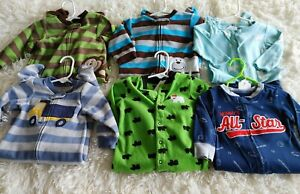 Baby Boy pajama pjs lot of 6 size 9 months Carter's child of mine