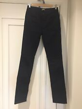 New Thomas Burberry dark blue stretch cotton slim fit trousers / jeans size 26