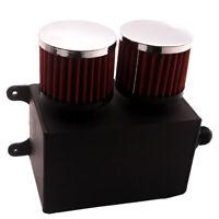 Aluminum Universal Racing Catch Oil Tank Can Turbo Reservoir AN10 W/ Air Filter