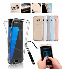 For Samsung Galaxy S7 / SM-G930F - 360 Front &Back Shockproof Clear Case&Ret Pen
