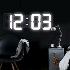 High Tech Modern 3D LED Backlight Digital Wall Desk Clock Electronic Night Glow