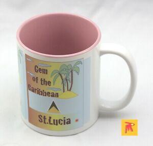 St.Lucia Gem of the Caribbean Bespoke Pink Mug