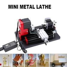 Motorized Mini Metal Lathe Machine Turning Woodworking working Teaching DIY Tool