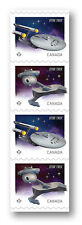 Star Trek Strip of 4 Four Starship Stamps / with Collector Packaging