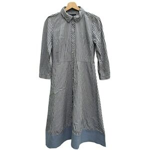 Tommi Hilfiger Women's Shirt Dress Long Sleeves Button Up UK Size 6