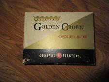 Vintage 1950's GE Golden Crown Photo Exposure Meter with Box, Case & Manual