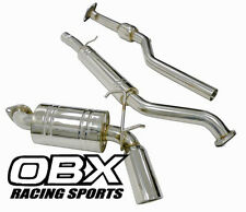 OBX CATBACK EXHAUST Fits 06-12 Mazda Miata MX5 MX-5 2.0L SINGLE TIP Cat back