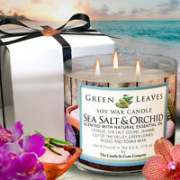 Sea Salt & Orchid Candle | Soy Candle | Scented Candle | Aromatherapy Candle