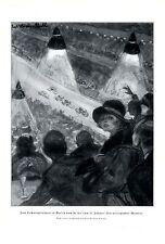 Sechstagerennen Berlin XL Kunstdruck von 1925 Helwig Strehl Radsport Radrennen +