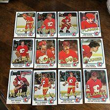 1981-82 O-Pee-Chee CALGARY FLAMES 19 card team lot