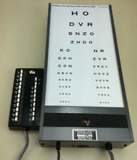 GOOD LITE Visual Acuity Eye Chart Cabinet W Light, includes Remote; Vintage
