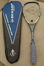 Dunlop Hot Melt Titanium Squash Racquet racket with cover