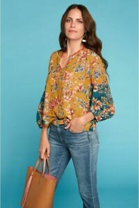 $245 JOHNNY WAS EFFORTLESS PEASANT BLOUSE SIZE XL NWT