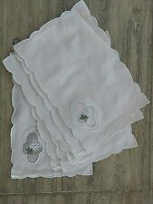 Lot of 6 Vintage Crochet Linen Handmade Lace Doilies brand new in pack