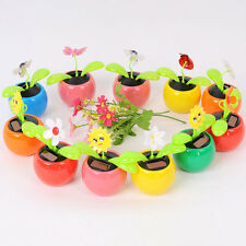 Solar Power Flip Flap Flower For Home Car Decor Swing Dancing Flower Toy Gift&