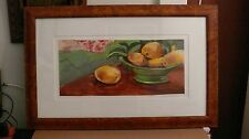 Original Still Life Oil Painting of Lemons Framed and Signed