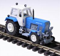 TT BUSCH Traktor Fortschritt ZT 300-E blau weiß grau Zweiwegetraktor DDR # 8698