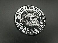 Patch Ride Forever Free Parche Biker Skull Calavera Motor Custom planchar rider