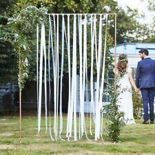 Bänder Set für Hochzeits-Hintergrund | Traubogen Deko Trauung weiß Band 80m