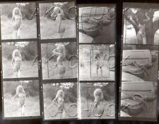 Nude Model White Thigh Hi Stocking HENDRICKSON Negative Photo Contact Sheet D848