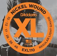 3 Sets of D'Addario EXL110-3D Regular Light Electric Guitar Strings .010 - .046