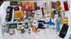 Junk drawer lot Vintage/Collectible Electronics Stuff Vacuum Tube Toys Lot A