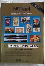 Catalogue Neudin 1984, l'argus international des cartes postales