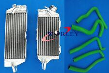 Aluminum Radiator and hose kawasaki kx250 KX 250 2 stroke 90 91 92 93 1990 1991