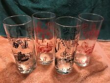 """Set of 4 Home Essentials and Beyond Ocean Glasses Las Vegas Theme 6 3/4""""T3990725"""