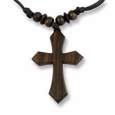7cm Kreuz Holzkreuz Halskette Anhänger Kette Holz Handarbeit Design N271
