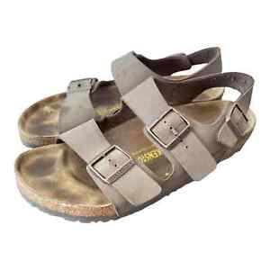 Birkenstock Brown Milano Slingback Sandals Size 42