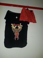 Naughty Navidad Reno Pijamas Conjunto Talla 18-20